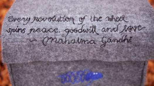 """Every revolution of the wheel spins peace, goodwill and love"". Mahatma Gandhi"