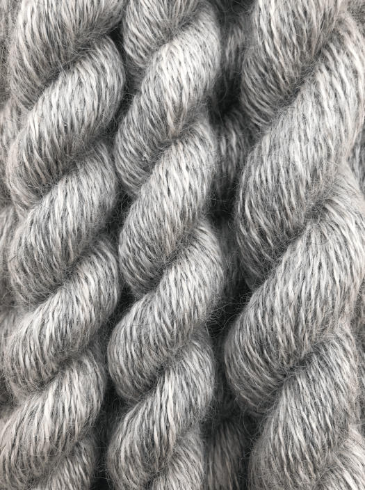 Handspun yarn from Gotland wool