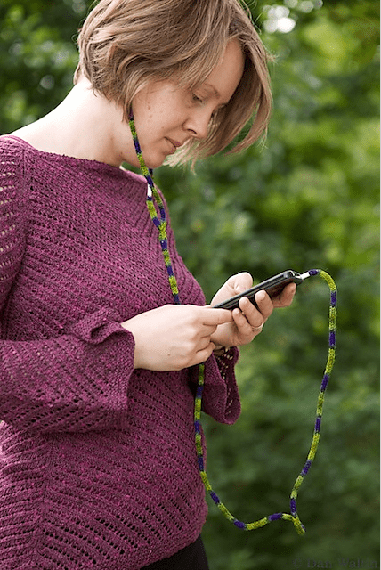 No untangling necessary with knit-in headphones.