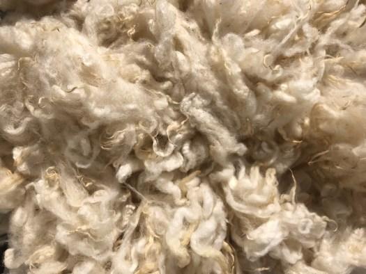 White wool.