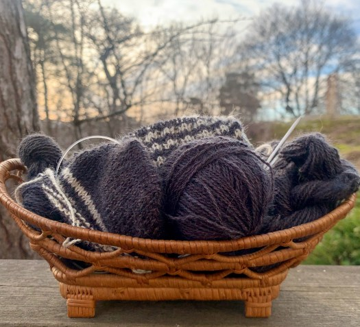 A basket full of yarn is like a bowl of candy!