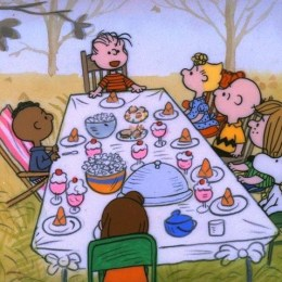 "A CHARLIE BROWN THANKSGIVING - The ABC Television Network will celebrate the start of the holiday season with the classic special, ""A Charlie Brown Thanksgiving,"" MONDAY, NOVEMBER 21 and TUESDAY, NOVEMBER 22 (8:00-9:00 p.m., ET), on the ABC Television Network. In the 1973 special ""A Charlie Brown Thanksgiving,"" Charlie Brown wants to do something special for the gang. However the dinner he arranges is a disaster when caterers Snoopy and Woodstock prepare toast and popcorn as the main dish. Humiliated, it will take all of Marcie's persuasive powers to salvage the holiday for Charlie Brown. (©1973 United Feature Syndicate Inc.)"