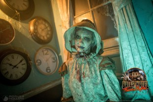 Meet a zombie widow that haunts the grounds of Bates Motel. She can spook you while you attend.