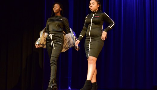Students showcasing their sense of style at the Rootin' For Everybody Black event.