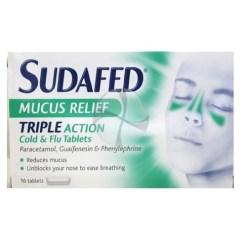sudafed mucus