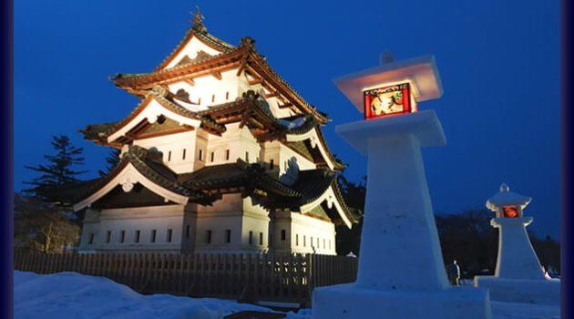 弘前城雪燈籠まつり2018の開催期間と時間は?