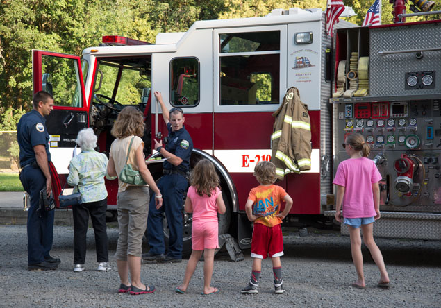 Fire Engine at Picnic
