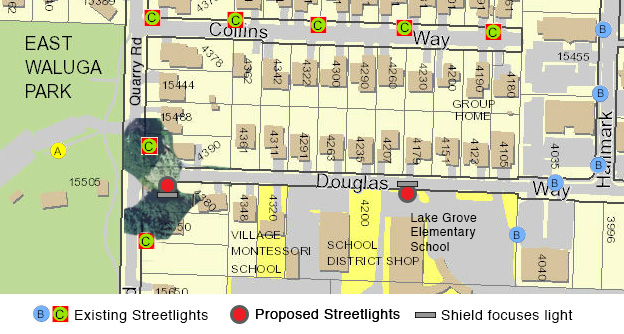 Proposed Streetlights on Douglas Way