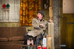 Domhnall Gleeson as Blake in The Walworth Farce by Enda Walsh, directed by Sean Foley and produced by Landmark Productions. Photo: Patrick Redmond