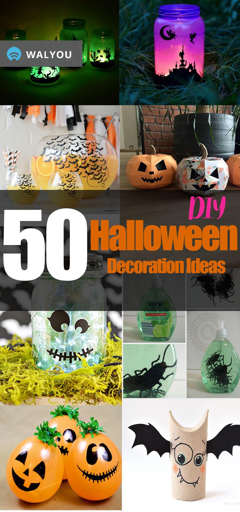 50 Easy Diy Halloween Decoration Ideas Walyou