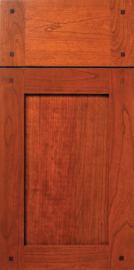 Cherry Shaker Cabinet Door with Walnut Peg Buttons