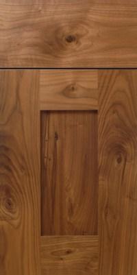Rustic Walnut Shaker Cabinet Door Design with Stiles and ...