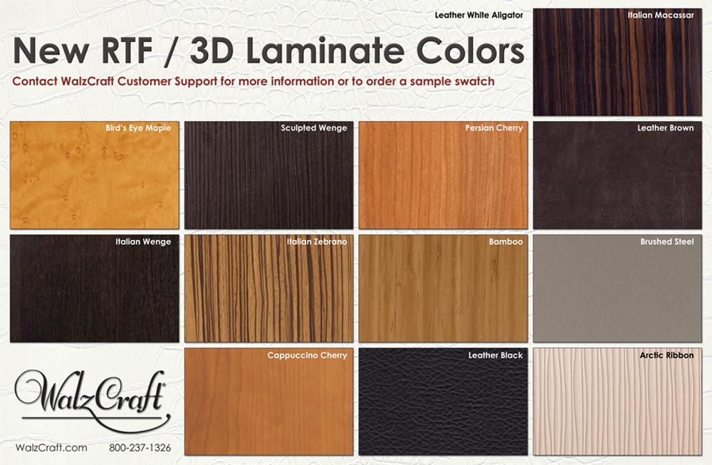 New RTF3D Laminate Colors  WalzCraft SRF3