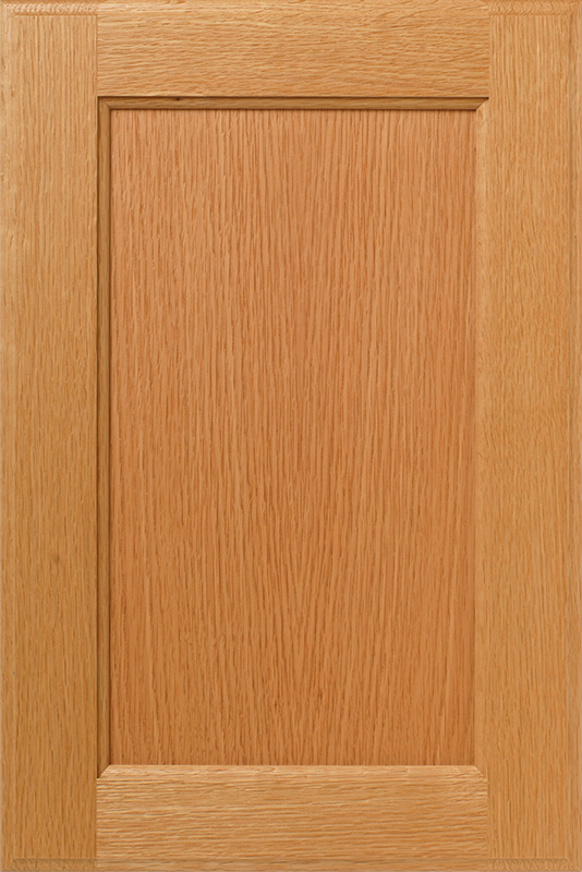 Rift Sawn Straight Grain Red Oak Veneer Cabinet Doors