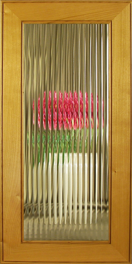 Clear English Reeded Glass For Cabinet Doors And Kitchen