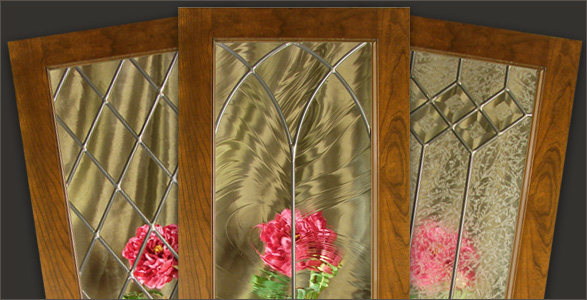 Leaded Glass for Kitchen Cabinet Doors  WalzCraft