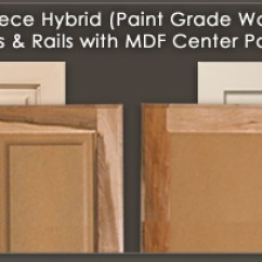 Mdf Kitchen Cabinet Doors Lower Cabinets Walzcraft Hybrid And Drawer Fronts Wood Frame Center Panel