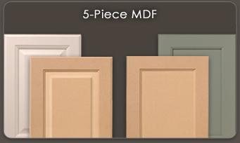 mdf kitchen cabinet doors outdoor grill insert walzcraft 5 piece drawer fronts