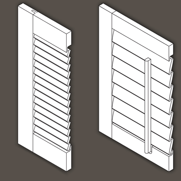 Louvered Cabinet Door  Wood Shutter Specifications and