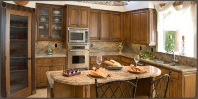 kitchen inventory champagne bronze faucet mitered cabinet doors | walzcraft