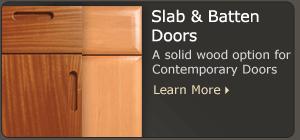 Contemporary Slab Cabinet Doors  WalzCraft