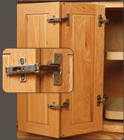 Cabinet Door Hinges by Blum and Salice
