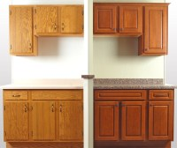 Before & After Showroom Cabinet Refacing Display | WalzCraft