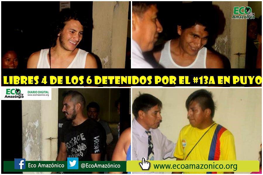 4 detenidos del Puyo durante Paro Nacional salen en libertad