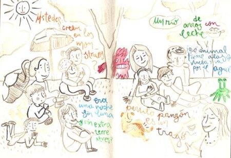 """Ilustración de la warmifonía """"Picnic de Palabras"""" realiza en el parque La Carolina, Quito-Ecuador"""