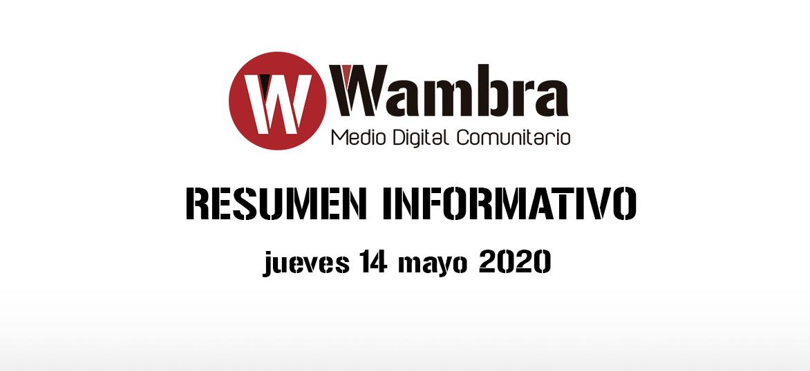 Corona Virus Ecuador – resumen jueves, 14 de mayo 2020