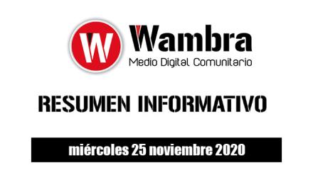 Resumen 25 noviembre 2020