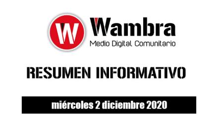 Resumen 2 diciembre 2020