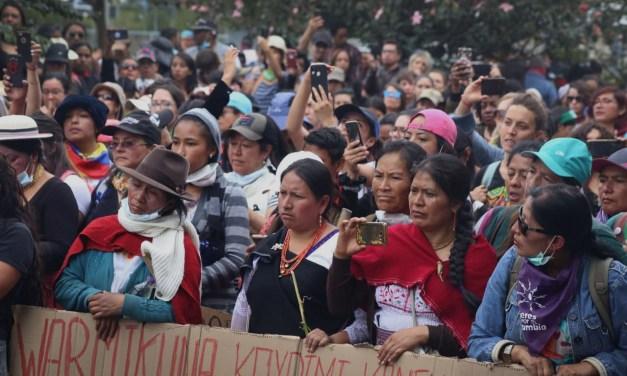 Mujeres indígenas en el movimiento:  el proceso de una voz propia