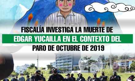 Fiscalía investiga la muerte de Edgar Yucailla en el contexto del Paro de octubre de 2019