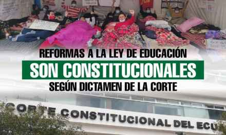 Reformas a la Ley de Eduación son constitucionales según dictamen de la Corte