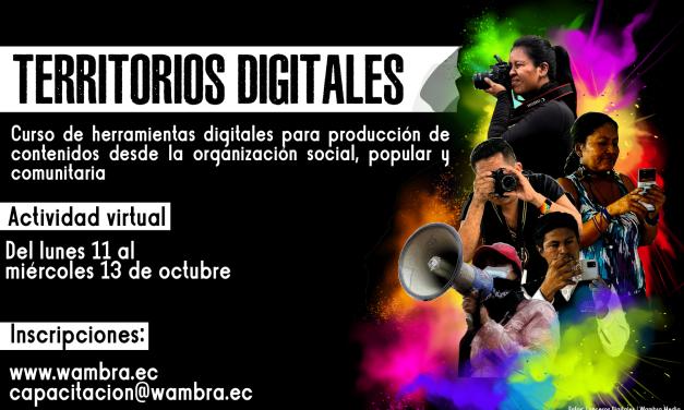 Curso: Territorios Digitales #Octubre2021