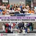 Mujeres Amazónicas exigen que prevención a la violencia de género sea un tema prioritario en el presupuesto estatal
