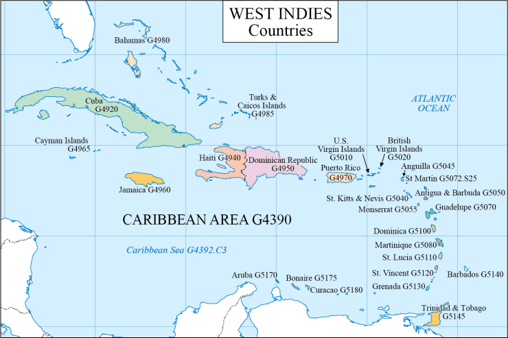 G schedule 14 Caribbean countries