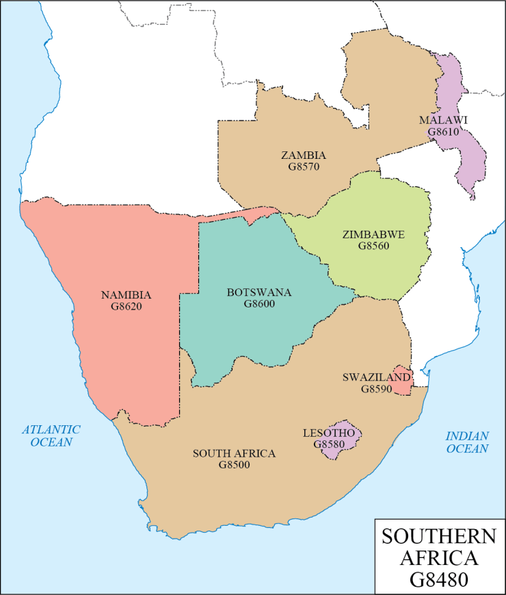 G schedule 36 Southern Africa