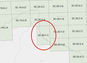 In the Brazil 1:250,000 topo set, a map sheet was rotated to more efficiently cover the boundary.