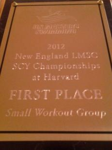 2012 SCY Championships - First place, Small workout group!
