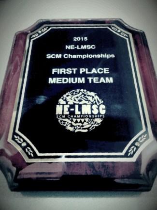 First Place Medium Team - 2015 NELMSC SCM Champs