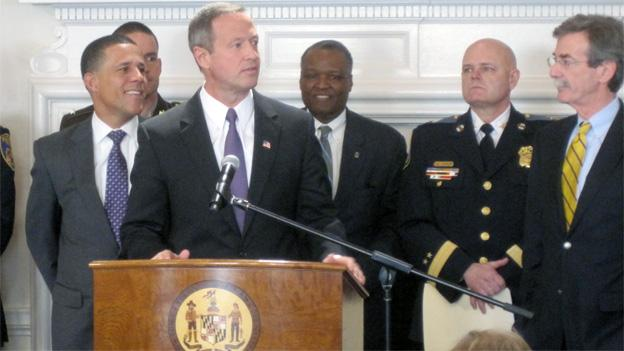 Gov. Martin O'Malley announced his four-point gun control package at a press conference Friday.