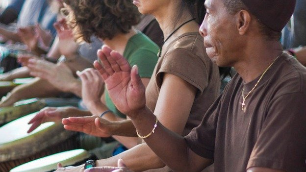 The Meridian Hill Park drum circle is a weekly tradition dating back decades.