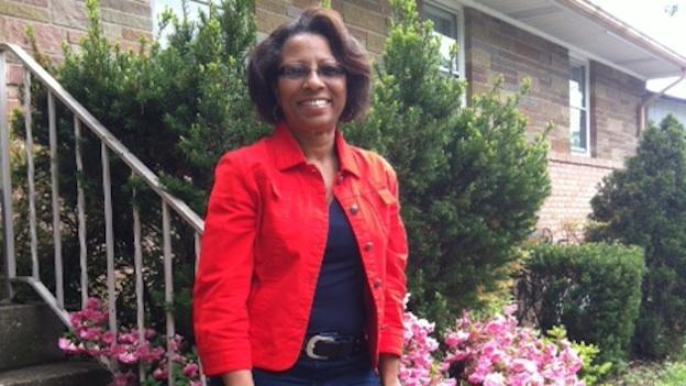 Tammy Jones stands in the her neighborhood of Camp Springs, Md.