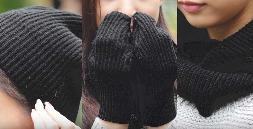 セーターを丸ごと使って3つのアイテムにDIYしてみました♡