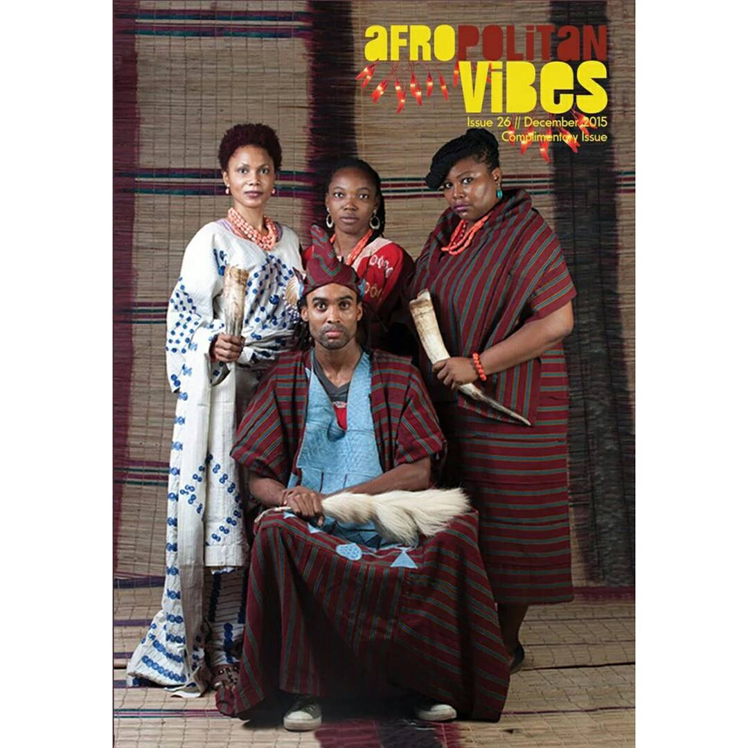 Oba Olowu and his very fierce Oloris. Our Ake festival 2013 group photo made @afropolitanvibes December cover. #afropolitanvibes #artistsfriends