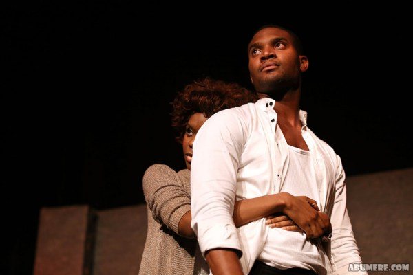 Belinda and Kunle performing a piece from Closer