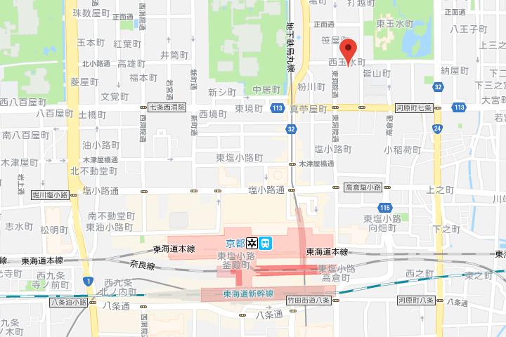 02-daiichi-grand-hostel-kyoto-map