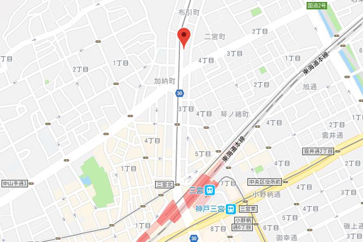 02-unizo-inn-kobe-sannomiya-map